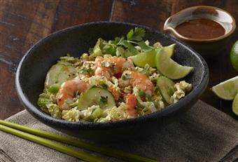 Udang Thai dan Napa Kubis Salad
